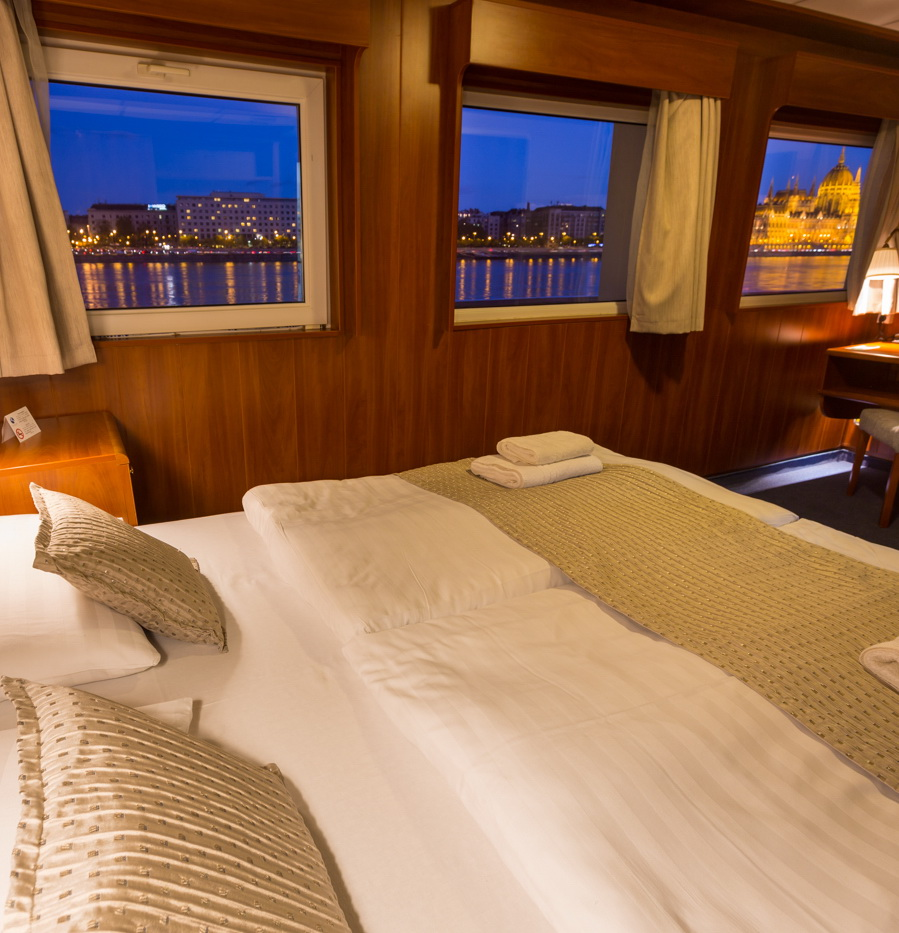 Standard Double Cabin on Boat with River View